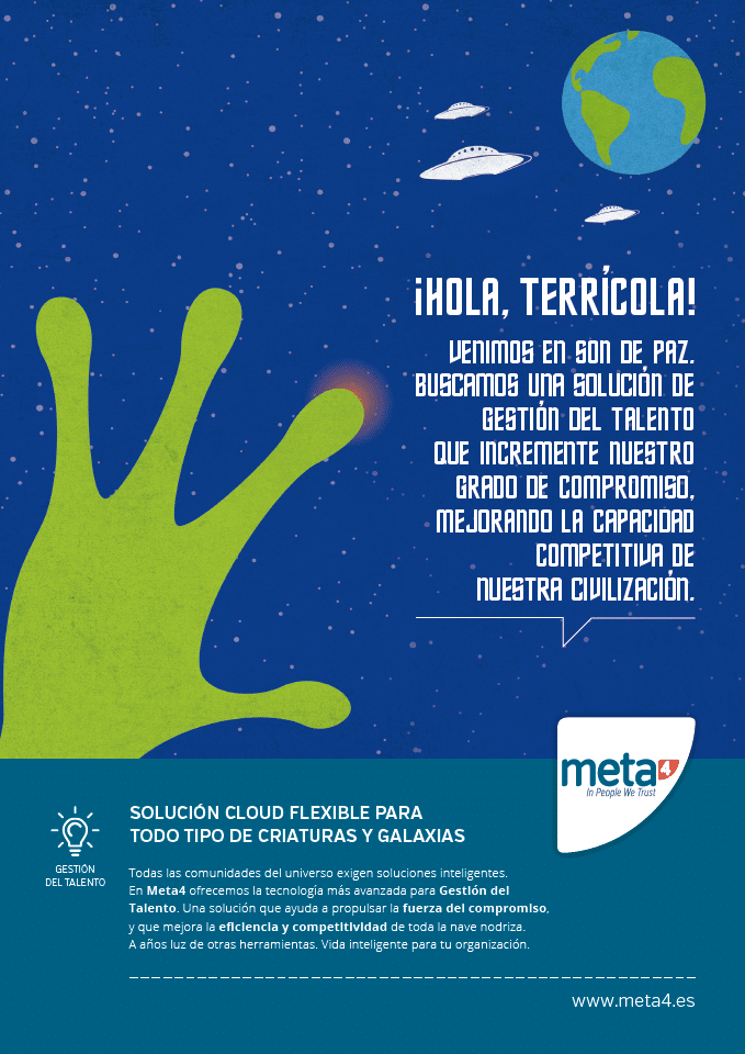 Meta4 Gestión del Talento mano extraterrestre