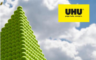 UHU. Lanzamiento en España. El reto de la pirámide faraónica
