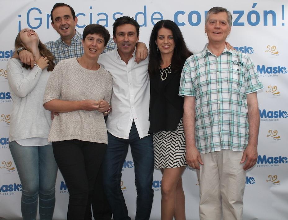 Patricia, Rafa, Marisa, César, Esther y Pedro
