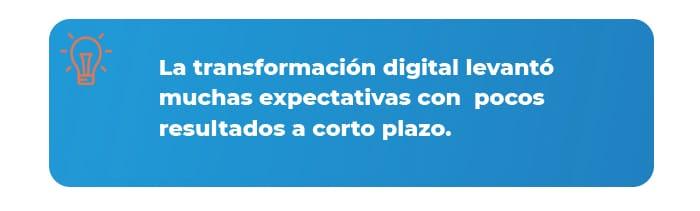 Transformación digital dato